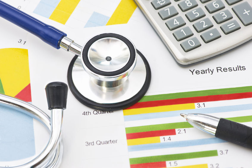 Medical practice financials stethescope